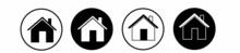 House Icon Set. Set Of Black House, Real Estate Symbols, Vector Illustration