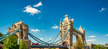 Magnificent Tower Bridge On A Beautiful Summer Day.