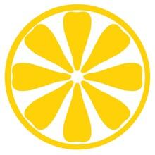 Doodle Yellow Lemon Pattern On White Background