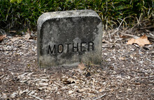 Mother Tombstone In A Cemetery