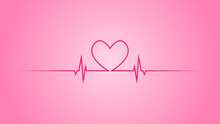 Heart Pulse Or Heart Beat. You Can Use This Asset For Your Content Like As Falling Love, Anniversary, Couple, Romance, Wedding, Marriage, Greeting Card, Celebrate, Honeymoon, Valentine, Cover Anymore