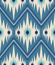 Ikat Fabric Pattern Vector, Seamless Pattern, Textile Pattern