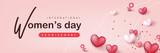 International women's Day sale banner template.