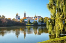 Autumn View Of The Novodevichy Monastery And The Great Novodevichy Pond In Moscow, Russia