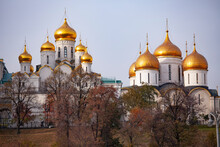 Archangel And Annunciation Cathedrals Of The Moscow Kremlin