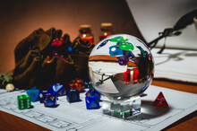 Polyhedral Dice In A Crystal Ball
