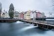 canvas print picture - Luzern im Winter