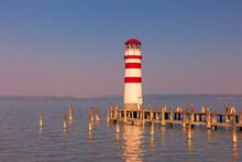 Austria, Burgenland, Lake Neusiedl, Podersdorf Am See, Lighthouse