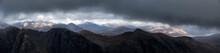 UK, Scotland, Glencoe, Aonach Eagach Ridge
