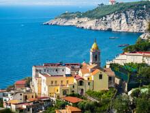 Italy, Campania, Gulf Of Salerno, Sorrent, Amalfi Coast, Punta Lagno, Massa Lubrense And Santa Maria Delle Grazie