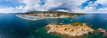 Spain, Balearic Islands, Mallorca, Aerial View Of Portals Nous, Harbour Puerto Portals, Beach Platja De S'Oratori And Illa D'en Sales