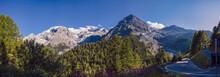 Italy, Scenic Panorama Of Stelvio Pass
