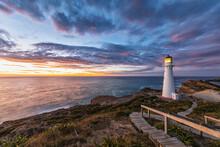 Lighthouse At Sunset, Castlepoint, New Zealand