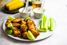Spicy Chicken Wings With Lime And Celery
