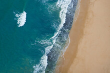 Portugal, Algarve, Drone View Of Praia Da Marinha Beach