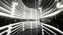 Three Dimensional Render Of Brightly Lit Futuristic Corridor