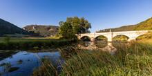 Germany, Baden-Wurttemberg, Arch Bridge Over Danube River In Upper Danube Nature Park