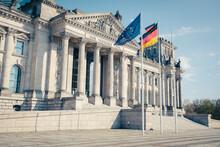 Germany, Berlin, Facade Of Reichstag
