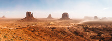 USA, Arizona, Panorama Of Monument Valley