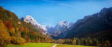 Slovenia, Scenic View Of Autumn Valley InÔøΩTriglavÔøΩNational Park