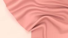 ピンク色の布(グラデーションメッシュ)