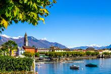 Boats On Lago Maggiore, Ascona, Ticino, Switzerland