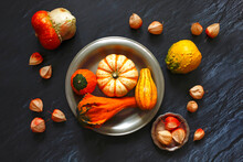Still Life With Ornamental Pumpkins