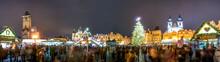 Czech Republic, Prague, Christmas Market At Night