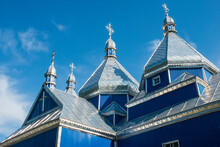 Blue Wooden Church, Near Buchach, Ukraine