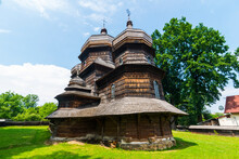 Ukraine, Carpathian Mountains, Drohobych, Wooden St. George's Church