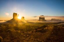 USA, Arizona, Monument Valley At Sunrise