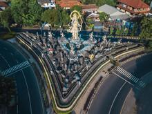 Indonesia, Bali, Sanur, Aerial View Of Patung Titi Banda Statue