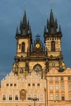 Czech Republic, Prague, Old Town Square, Tyn Church