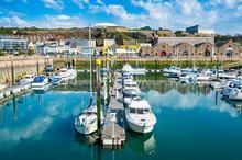 United Kingdom, Channel Islands, Jersey,St. Helier, Sport Boat Harbour