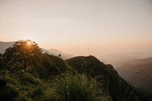 Scenic View Of Mountains In Sri Lanka Against Sky During Sunset