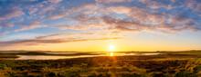 UK, Scotland, Mainland, Scenic Panorama OfÔøΩLoch Of Harray At Sunset