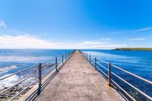 Scotland, Orkney Islands, South Ronaldsay, Burwick, Pier On Sea