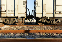Cargo Train On Railroad Track, Palapye, Botswana