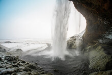 Iceland, South Iceland, Seljalandsfoss Waterfall