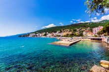 Opatija Town At Adriatic Sea Coast Against Blue Sky