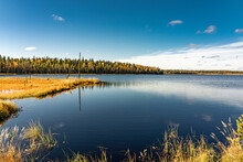 Finish Lake In Septembre Fall