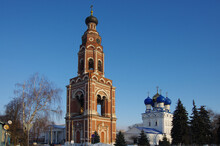 BRONNITSY, MOSCOW REGION, RUSSIA - December, 2020: Cathedral Complex Of Bronnitsy. Bell Tower Of The Cathedral Of The Archangel Michael