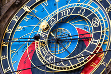 Czech Republic, Prague, Close-up Of Prague Astronomical Clock