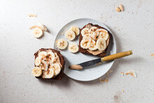Chocolate Bread With Almond Cream And Banana