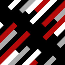 Diagonal Geometrical Pattern Illustration With Red, Black, White And Grey Stripes Decoration On Black Background