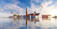 San Giorgio Maggiore Island At Sunset, Venice, Italy