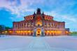 canvas print picture - Panoramablick auf Dresden, Deutschland