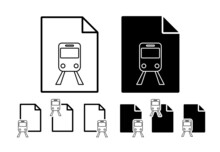 Train Station Sign Vector Icon In File Set Illustration For Ui And Ux, Website Or Mobile Application