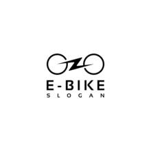 Simple Minimalist Electric Bike, Bicycle Logo Design