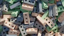 Group Of Pastel Toy Building Bricks